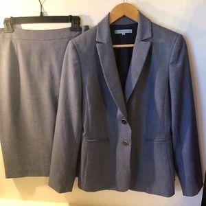 Antonio Melani Blue Suit with Skirt